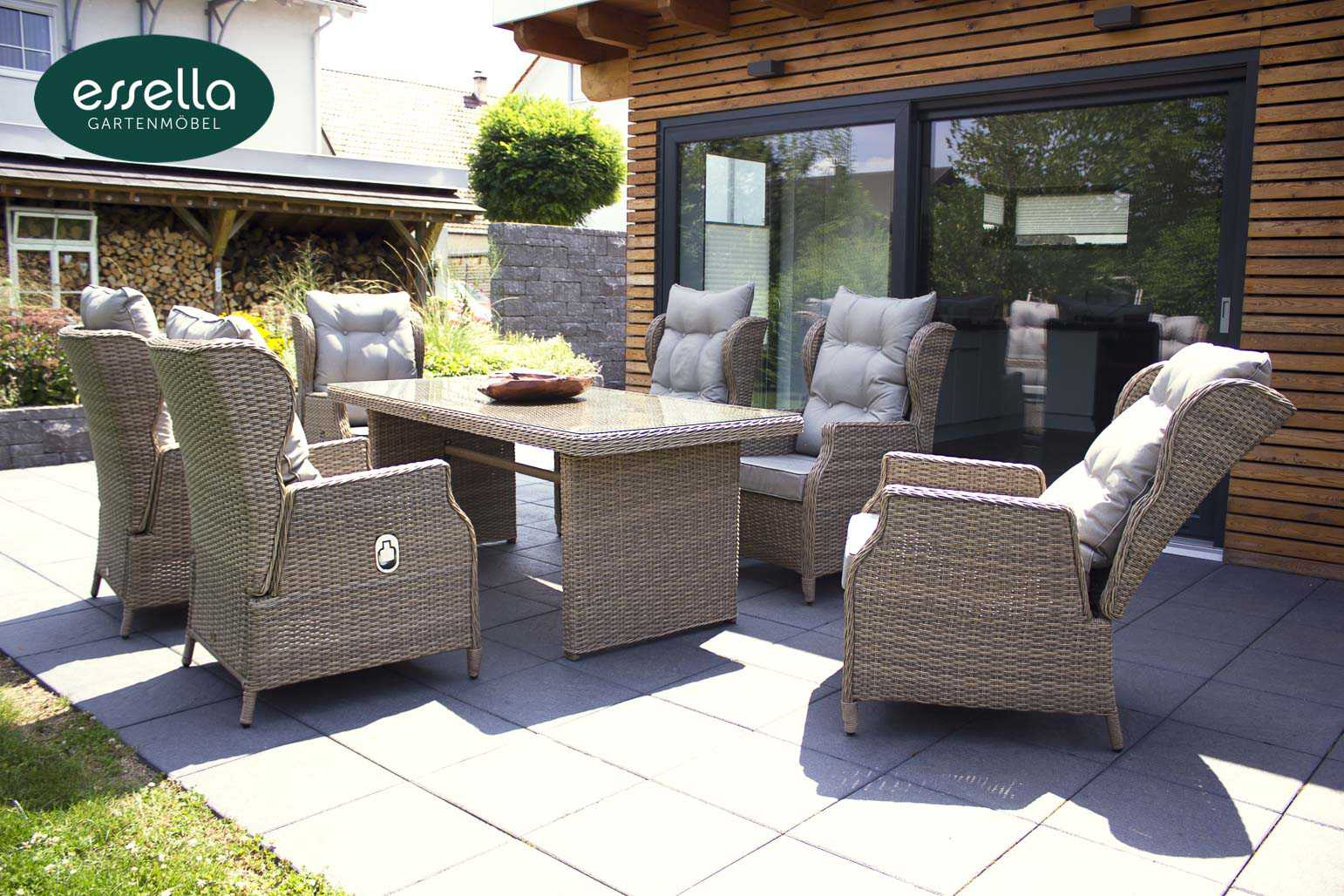 Polyrattan-Essgruppe kingston